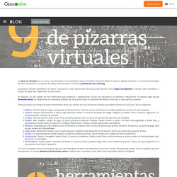 9 herramientas online de pizarras virtuales -Infografía- - ClassOnLive