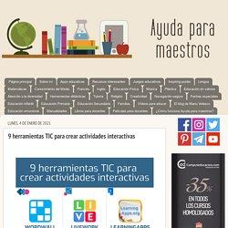 9 herramientas TIC para crear actividades interactivas