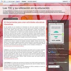 20 Herramientas para crear actividades educativas interactivas