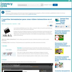 7 sencillas herramientas para crear vídeos interactivos en el aula