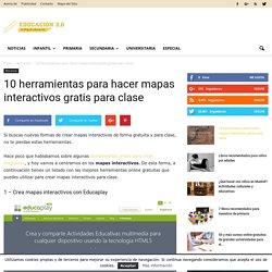 10 herramientas para hacer mapas interactivos gratis para clase