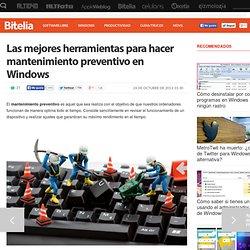 Herramientas para hacer mantenimiento preventivo en Windows