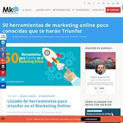 50 herramientas de marketing online poco conocidas