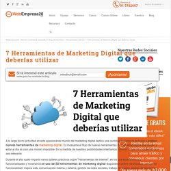 7 herramientas de marketing digital que deberías utilizar