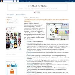 Social Media: +300 Herramientas y Recursos Gratuitos Para Crear Materiales Educativos Didacticos