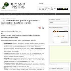 150 herramientas gratuitas para crear materiales educativos con tics