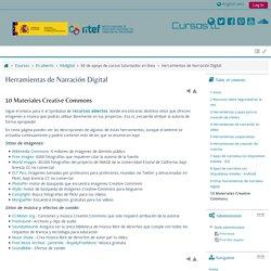 Herramientas de Narración Digital: Materiales Creative Commons