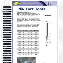 Fresas Herramientas de corte FORT TOOLS metacrilato aluminio madera pvc