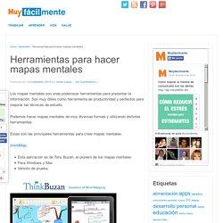 Herramientas para hacer mapas mentales