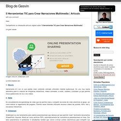 5 Herramientas TIC para Crear Narraciones Multimedia