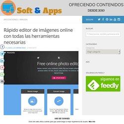 Rápido editor de imágenes online con todas las herramientas necesarias