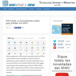 PDF Candy, 24 herramientas online para trabajar con PDFs