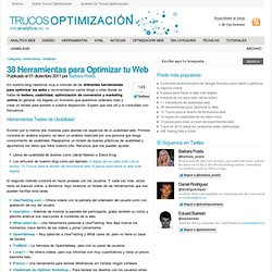 38 Herramientas para Optimizar tu Web