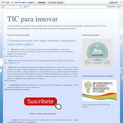 Las TIC y su utilización en la educación : 23 herramientas para crear mapas mentales, conceptuales, organizadores gráficos
