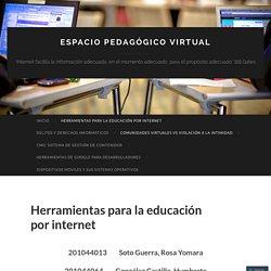 Herramientas para la educación por internet