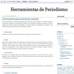 Herramientas de Periodismo: 41 herramientas para curación de contenido