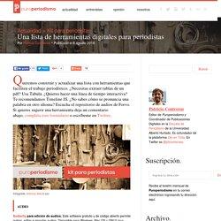 Una lista de herramientas digitales para periodistas