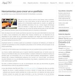 Herramientas para crear un e-portfolio
