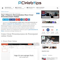 10 Mejores Herramientas Para Crear Presentaciones Online