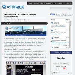Herramientas On-Line Para Generar Presentaciones- Un portal de historia y TIC