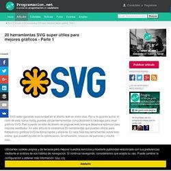 20 herramientas SVG super útiles para mejores gráficos - Parte 1. Programación en Castellano.
