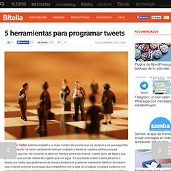 5 (H) para programar tweets