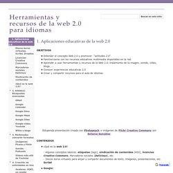 Herramientas y recursos de la web 2.0 para idiomas