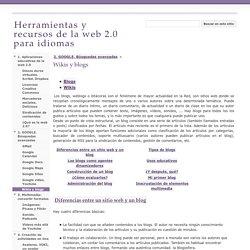 Wikis y blogs - Herramientas y recursos de la web 2.0 para idiomas