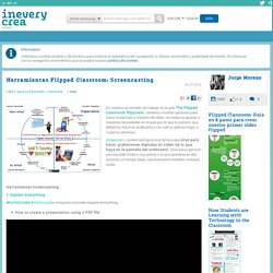 Herramientas Flipped Classroom: Screencasting