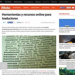 Herramientas y recursos online para traductores