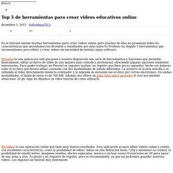 Top 5 de herramientas para crear videos educativos online