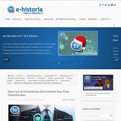 Selección de Herramientas Web Gratuitas Para Crear Videotutoriales
