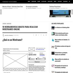10 herramientas gratis para realizar wireframes online
