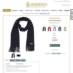 Herring Larry Lambswool Scarf at Herring Shoes