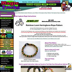 Herringbone Rope Patterns Instructions for Rainbow Loom