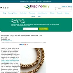 Must-Try Herringbone Stitch Necklace
