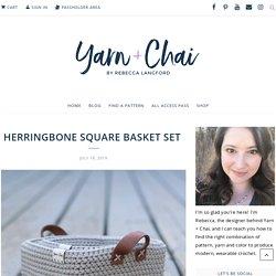 Herringbone Square Basket Set