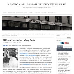 Hidden Herstories: Mary Butts » Abandon All Despair Ye Who Enter Here