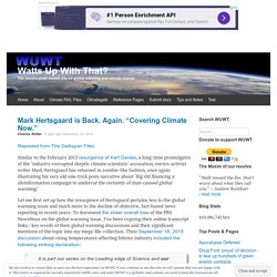 """Mark Hertsgaard is Back. Again. """"Covering Climate Now."""""""