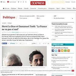 """Hervé Le Bras et Emmanuel Todd: """"La France ne va pas si mal"""""""