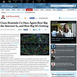 Cisco Reminds Us Once Again How Big The Internet Is Getting - Arik Hesseldahl - Enterprise