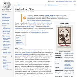 Hester Street (film) - Wikipedia