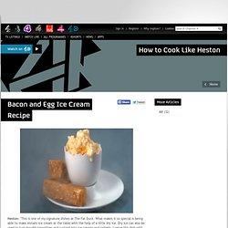 Bacon and egg ice cream recipe