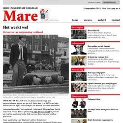 Het werkt wel - Mare - Leids Universitair Weekblad