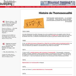 homo-hetero.be Histoire de l'Homosexualit