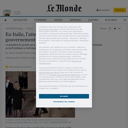 En Italie, l'attelage hétéroclite du gouvernement de Mario Draghi