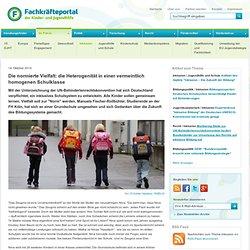 Die normierte Vielfalt: die Heterogenität in einer vermeintlich homogenen Schulklasse - Fachkräfteportal der Kinder- und Jugendhilfe