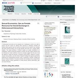 Sex as Female Resource for Social Exchange in Heterosexual Interactions