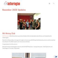 November 2020 Updates - Hetherington Tenement Consultant