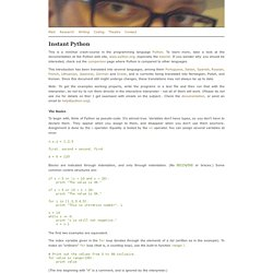 Instant Python